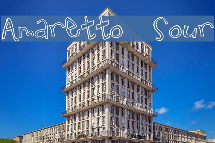 Amaretto  Sour Font examples