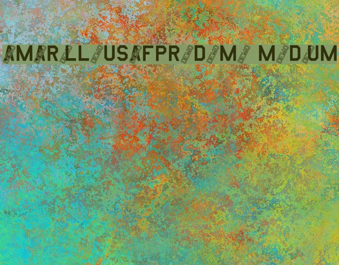 AmarilloUSAFProDemo Medium Font examples