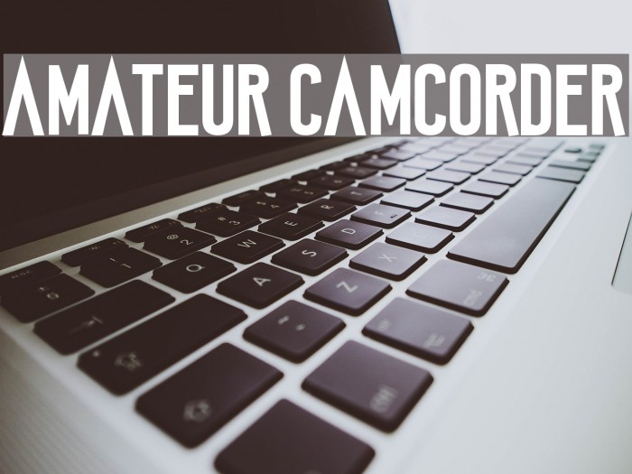 Amateur Camcorder Шрифта examples