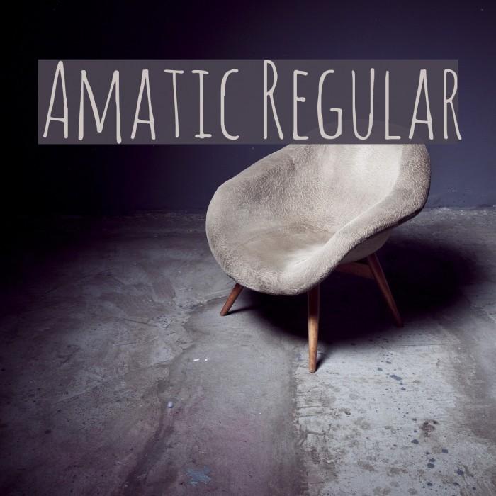 Amatic Regular Fonte examples