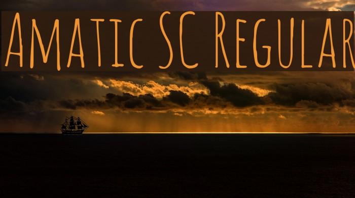 Amatic SC Regular Fuentes examples