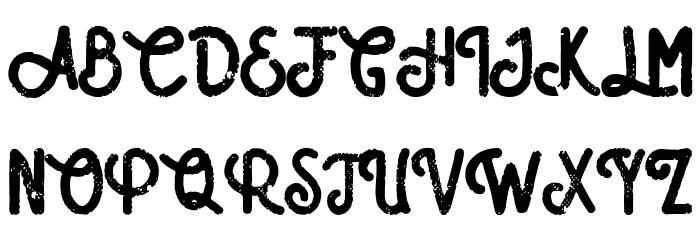 Amatir Grunge Schriftart Groß