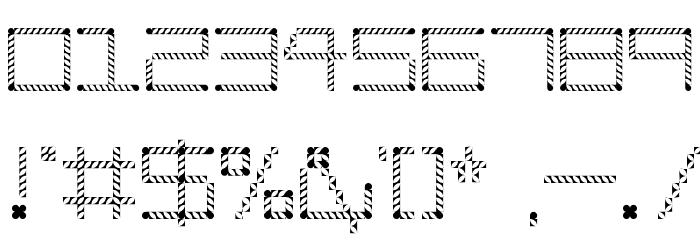 Amaya Technical Leaves Regular Шрифта ДРУГИЕ символов