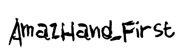 AmazHand_First  नि: शुल्क फ़ॉन्ट्स डाउनलोड