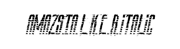AmazS.T.A.L.K.E.R.Italic  baixar fontes gratis