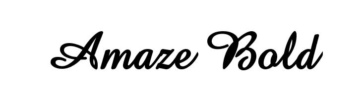 Amaze Bold  baixar fontes gratis