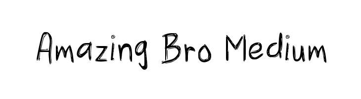 Amazing Bro Medium  Free Fonts Download