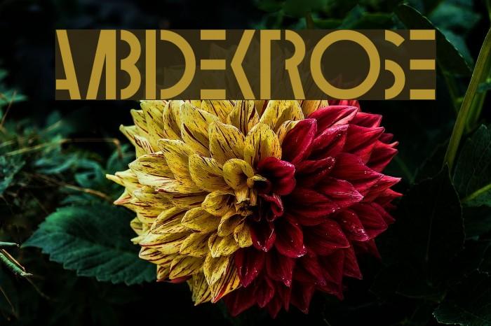 Ambidextrose Шрифта examples