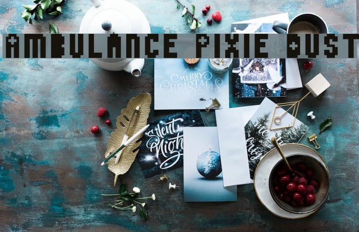 Ambulance Pixie Dust Fonte examples