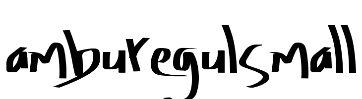 Amburegul Small  Free Fonts Download