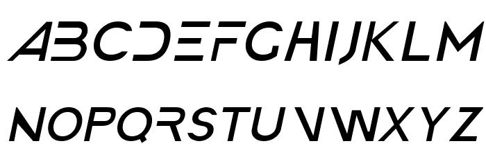 America Faster Light Italic Font UPPERCASE
