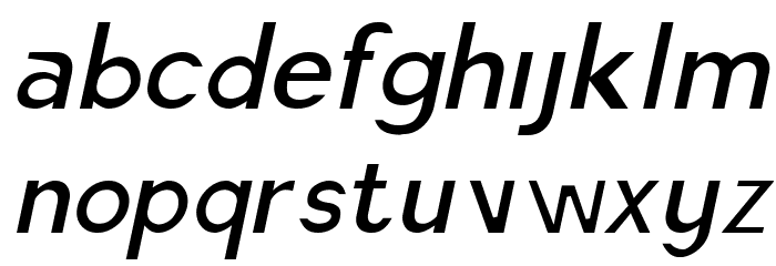 America Faster Light Italic Font LOWERCASE