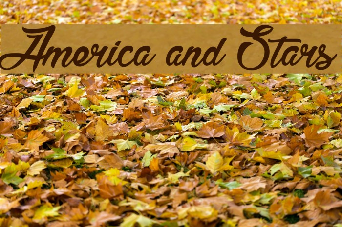 America and Stars Font examples