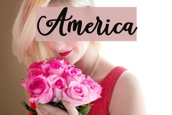 America Шрифта examples