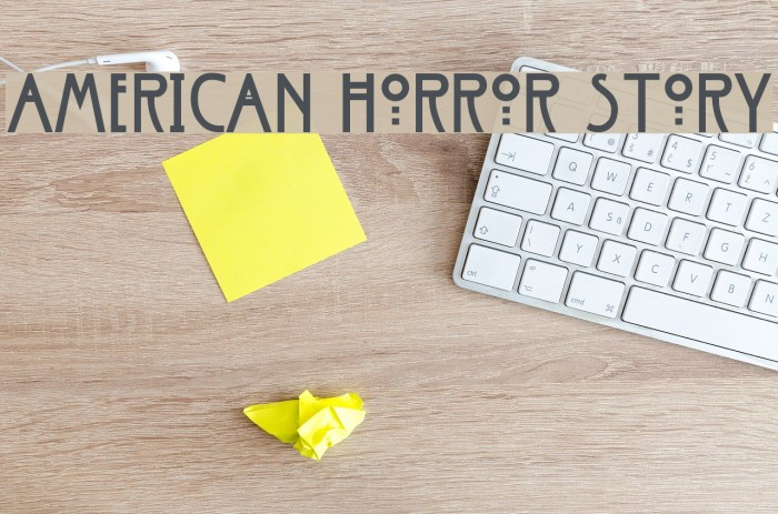 American Horror Story Font Comments - free fonts download