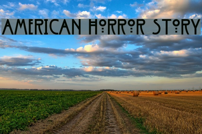 American Horror Story Font examples