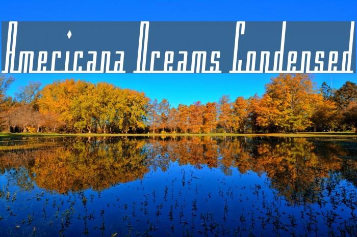 Americana Dreams Condensed Font examples