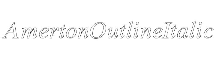 Amerton Outline Italic  नि: शुल्क फ़ॉन्ट्स डाउनलोड