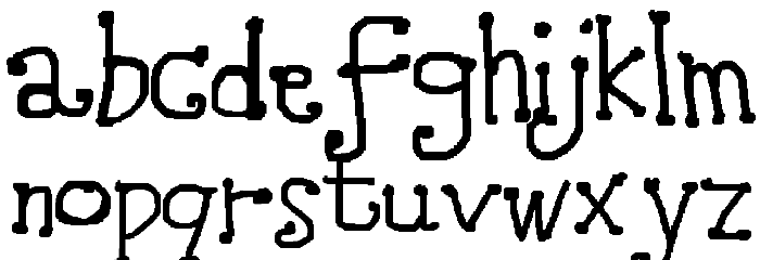 Amidst Font LOWERCASE