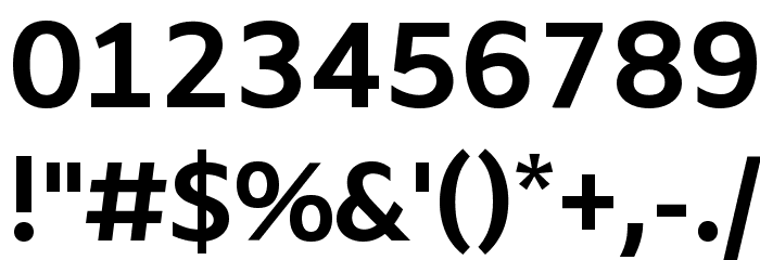 Amiko Bold Font OTHER CHARS