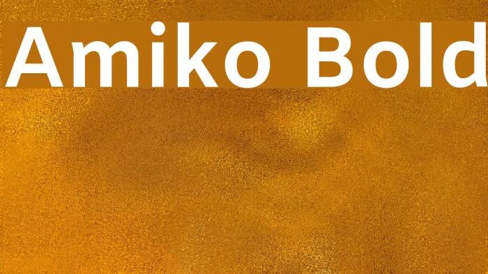 Amiko Bold Font examples