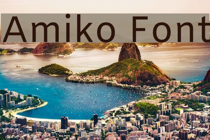Amiko Font examples