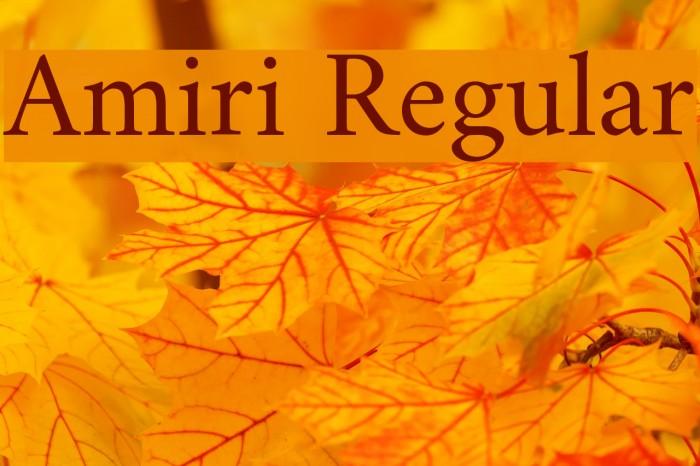 Amiri Regular Font examples