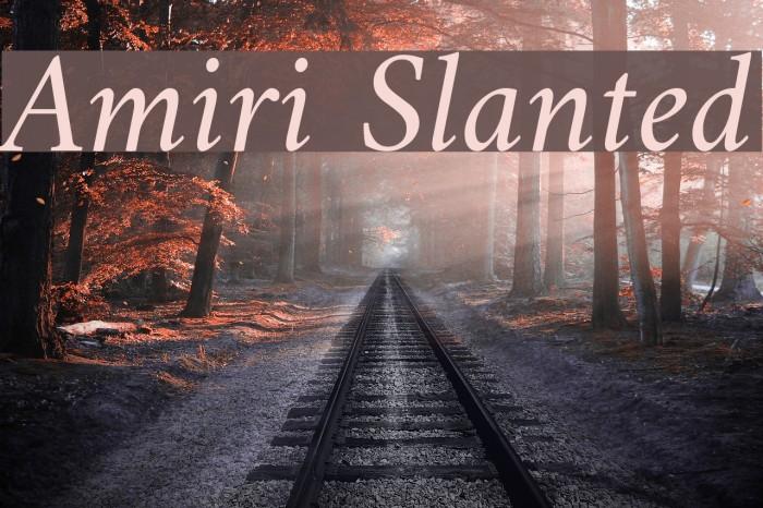 Amiri Slanted Fonte examples