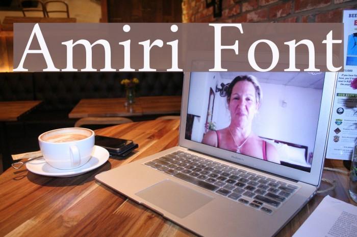 Amiri Font examples
