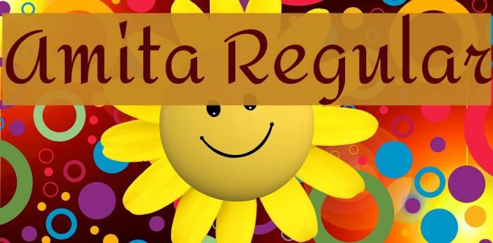 Amita Regular Font examples