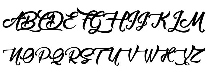 Amontillados フォント 大文字