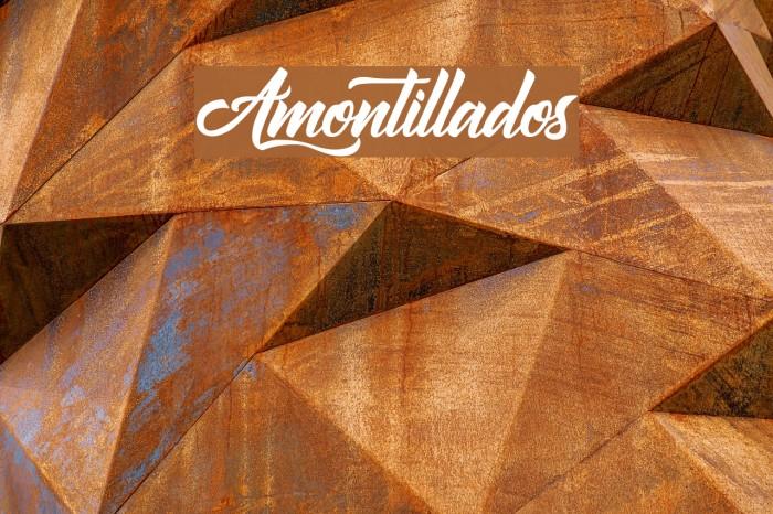 Amontillados Schriftart examples
