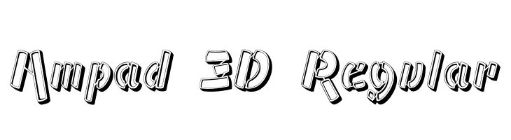 Ampad 3D Regular  フリーフォントのダウンロード