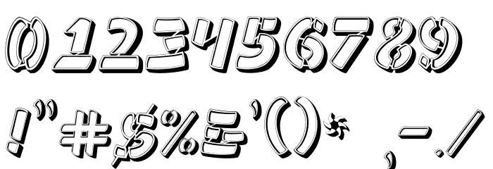 Ampad 3D Regular フォント その他の文字