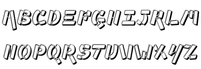 Ampad 3D Regular フォント 大文字
