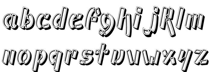 Ampad 3D Regular フォント 小文字