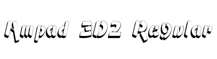 Ampad 3D2 Regular  フリーフォントのダウンロード
