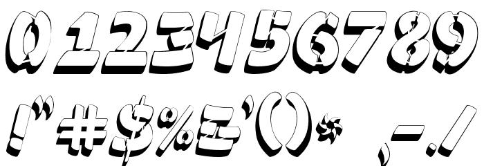 Ampad 3D2 Regular フォント その他の文字