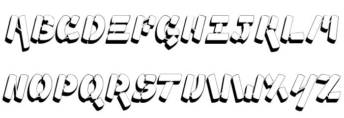 Ampad 3D2 Regular Font UPPERCASE