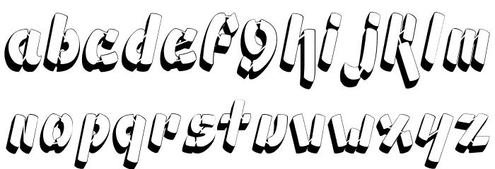 Ampad 3D2 Regular フォント 小文字