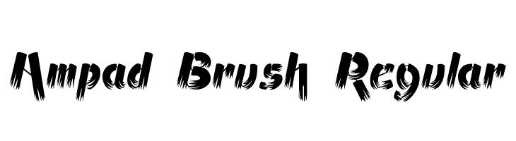 Ampad Brush Regular  フリーフォントのダウンロード