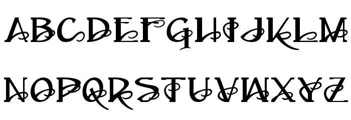 Ampad Regular フォント 大文字
