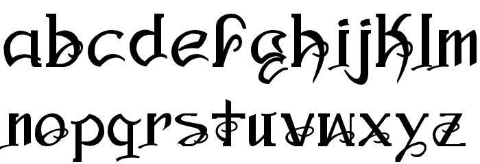 Ampad Regular フォント 小文字