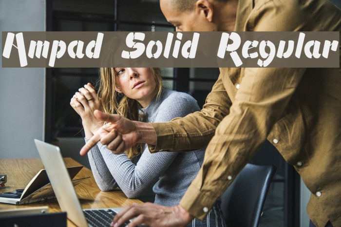 Ampad Solid Regular फ़ॉन्ट examples