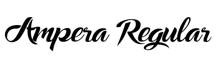 Ampera Regular  Скачать бесплатные шрифты