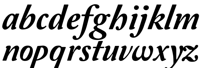 Amperzand Font LOWERCASE