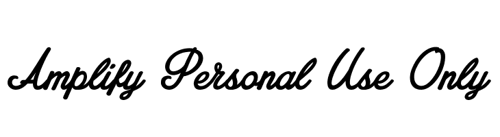 Amplify Personal Use Only  Free Fonts Download