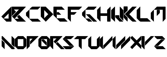 Amputa Bangiz Font LOWERCASE