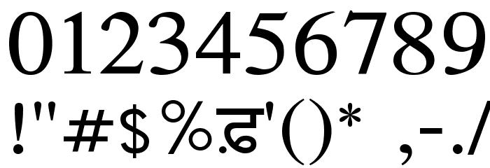Amritboli Font OTHER CHARS