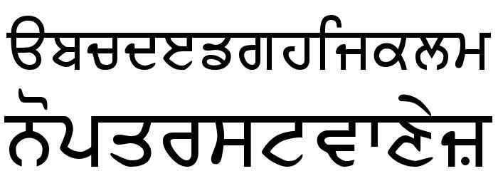 Amritboli Font LOWERCASE